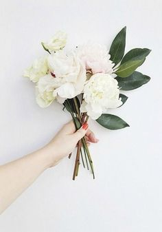 no rain, no flowers ❁ // My Flower, Beautiful Flowers, White Flowers, White Peonies, Elegant Flowers, White Roses, Fresh Flowers, Wedding Bouquets, Wedding Flowers