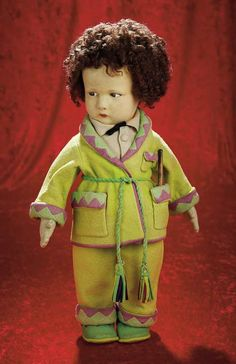 "View Catalog Item - Theriault's Antique Doll Auctions. Named ""Renato"" in Lenci's 1926 catalogue marked 300/G."