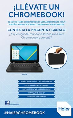 Participa y gana un Haier Chromebook
