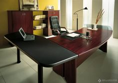 would love to have an office big enough for a desk like this.