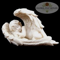 Sleeping Cherub Lying on Side Figurine Single item, random design supplied. Cherubs are a popular range of gifts for all ages and we have an ext Cake Borders, Polymer Clay Cake, Angel Statues, Gnome Statues, Angel Pictures, Candle Molds, Cake Decorating Supplies, Fondant Molds, Angel Art