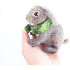 Needle Felted Bunny or Rabbit, Soft Sculpture, Felted Handmade... ($49) ❤ liked on Polyvore featuring woolpaw
