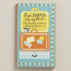 One of my favorite discoveries at WorldMarket.com: Fold-Out Book of Travel Sticky Notes