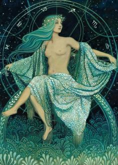 Asteria Goddess of the Stars ACEO ATC Altar Art Greek Mythology Art Print Pagan Psychedelic Bohemian Gypsy Witch Goddess Art Greek Mythology Art, Norse Mythology, Gypsy Witch, Psy Art, Goddess Art, Star Goddess, Moon Goddess, Greek Gods, Divine Feminine