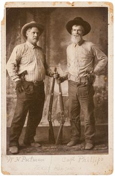 "peashooter85: "" Texas Rangers W. H. Putnam and Captain Philips, circa 1890's. """