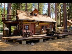 Lake Tahoe log cabin :: small house design ideas - YouTube