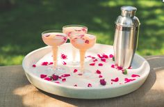 The Pretty in Pink Edible Flower Cocktail