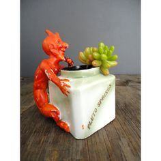 Antique Ink Jar  Devil  French Lick by JustSmashingDarling on Etsy, $48.00