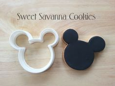 Mouse Head Cookie Cutter Size available approx  1 inch wide x .9 high  2 inches wide x 1.75 high 3 inches wide x 2.6 high  4 inches wide x