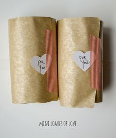 washi tape wrapped - Mini Loaves of Love