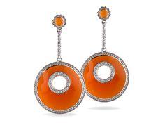 #Miriam Salat | #Clip #Orange #Love #Earrings