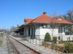 Old railroad station in Woodstock, GA