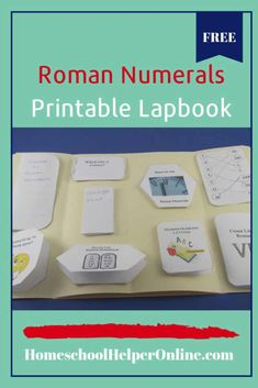 Make learning Roman numerals fun with this free Roman numerals lapbook. Learn the rules for Roman numerals, count like a Roman, matching, and more. Vocabulary Activities, Math Resources, Lap Book Templates, Faith Tattoo On Wrist, Singapore Math, Daily Math, Homeschool Curriculum, Homeschooling Resources, Free Math