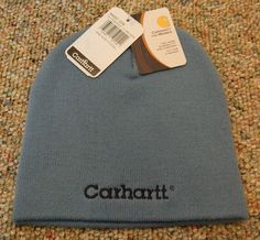 Carhartt Wa007 Dyb Dusty Blue Toboggan Women's Knit Beanie Cap New With Tags