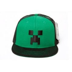 Amazon.com: Official Licensed Minecraft Creeper Face Premium Snap Back Hat - One Size Fits All: Clothing (zac)