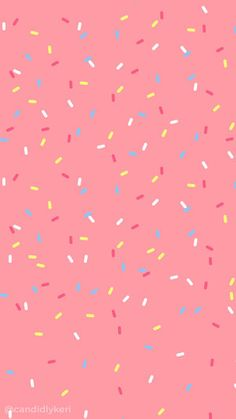 Pink sprinkles design pattern fun confetti background wallpaper you Free Wallpaper Backgrounds, Homescreen Wallpaper, Cute Wallpaper For Phone, Cute Backgrounds, Pastel Wallpaper, Mobile Wallpaper, Iphone Wallpaper, Confetti Wall, Confetti Background