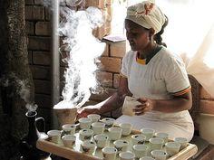 Ceremonia parzenia kawy to etiopski rytuał