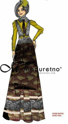 Muslim Dress, Batik Dress, Hijab Fashion, Vintage Designs, Sketches, Abayas, Womens Fashion, How To Wear, Illustration