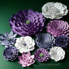 Large Paper Flowers Perfect for a Nursery in the Colors of