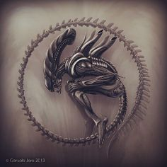 Image result for xenomorph tattoo