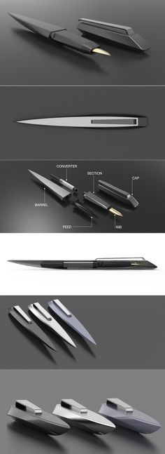 Nautilus fountain pen on Behance