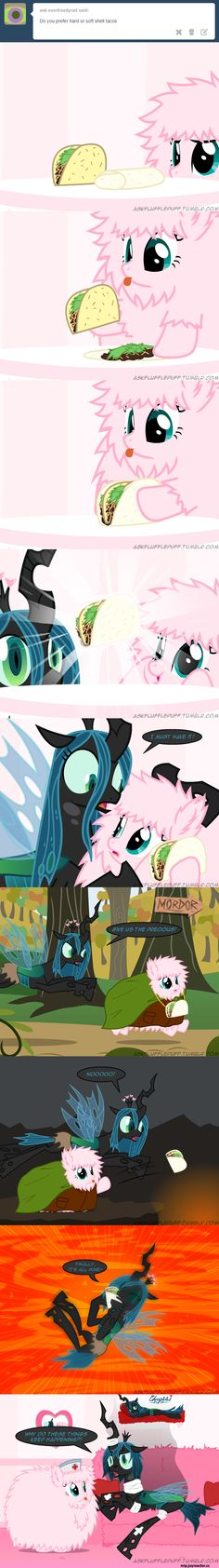 Queen Chrysalis,Fluffle Puff