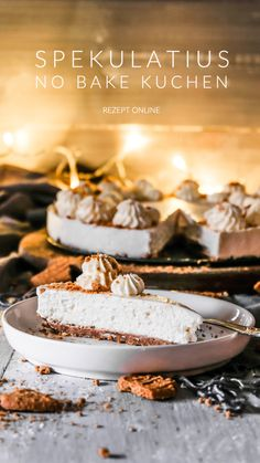 Spekulatius No Bake Kuchen – Ahalni Sweet Home - New ideas Easy Cake Recipes, Easy Desserts, Dessert Recipes, Philadelphia Torte, Christmas Deco, Sweet Home, Easy Meals, Cupcakes, Baking