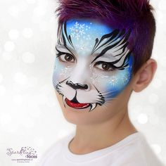Face Painting Designs, Paint Designs, Tiger Face Paints, Airbrush Tattoo, Body Art, Balloons, Halloween Face Makeup, Sparkle, Make Up