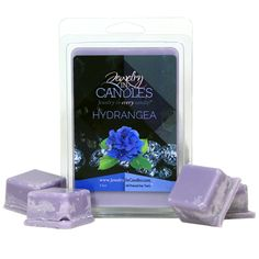 As vibrant and beautiful as its flower, this unique fragrance is sweet, yet subtle with light and refreshing notes. Hints of hyacinth, lilac and vanilla balanced with a rich, floral body will fill your home with the most pleasant scents of Spring - See more at: https://www.jewelryincandles.com/store/sarasjic/p/165:c:129_98/shop-by-category/garden/hydrangea-scented-tarts/#sthash.Gxg9FmuY.dpuf