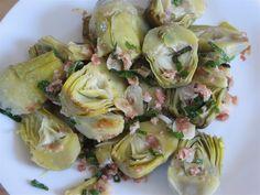 Sauteed Baby Artichokes - Recipe for Bacon Artichokes