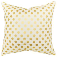 Gold Dot Pillow | Decorative Pillows Gifts | chapters.indigo.ca  This pillows is literally perfect for the white, purple, grey, black and gold theme I am doing in my bedroom.