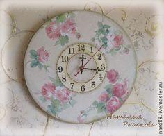 часы настенные Нежность роз - розовый,настенные часы,часы интерьерные