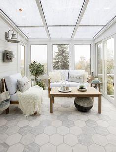 Cozy sun room designed by Jillian Harris