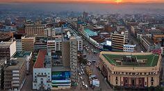Beautiful shot of Nairobi, Kenya
