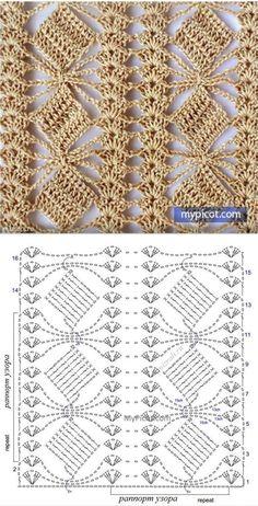 Define and symbols for crochet an openwork sample. by sara Crochet Scraf Looks like flower in a trellis. Crochet Shawl Diagram, Crochet Lace Edging, Crochet Motifs, Crochet Stitches Patterns, Crochet Chart, Diy Crochet, Crochet Baby, Stitch Patterns, Knitting Patterns