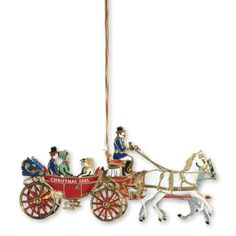 2001 White House Christmas Ornament, A First Family's Carriage Ride - Ornaments - Christmas | The White House Historical Association