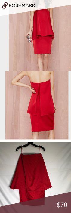 Box 1️⃣0️⃣cameo ascent dress 🖤🐥 Nasty gal x cameo ascent layered dress Nasty Gal Dresses Midi