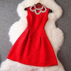 frozen vestidos winter dress 2014 new Promotions hot. how beautiful red dress Red Dress Casual, Casual Dresses, Fashion Dresses, Formal Dress, Dresses For Teens, Summer Dresses, Prom Dresses, Beaded Dresses, Mini Dresses