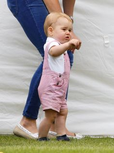 Pin for Later: Prince George's Birthday: A Look Back at His Milestones Over His First Year Prince George's First Assisted Steps And he also worked on his walking skills, teetering along with the help of his mother, Catherine, the Duchess of Cambridge.