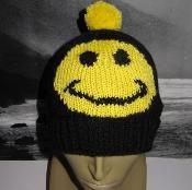 FREE Smiley Bobble Beanie Hat - via @Craftsy