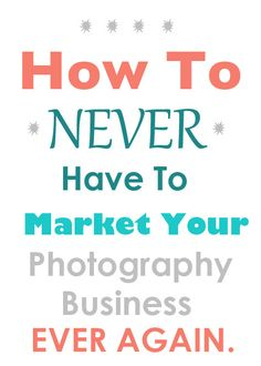 How to never have to market your photography business ever again. Marketing advice on differentiation and becoming unique (via Steel Toe Images).