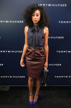 Corinne Bailey Rae at Tommy Hilfiger 2012.