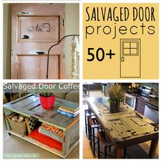 Love these Salvaged Door Projects at Saved by Love Creations!