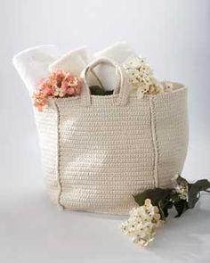 Crochet Tote Bag | FaveCrafts.com free crochet pattern