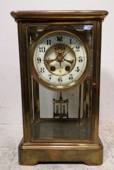 Gilbert Crystal Regulator -- Visible Escapement & Special Dial Timing Adjustment