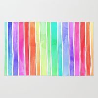 Bright Rainbow Colored W… Rug