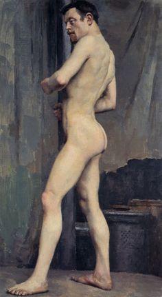 """""""Male Nude"""" (1880) by Akseli Gallen-Kallela"""