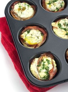 Breakfast Mediterranean Ham And Egg Cups {Low Carb, Low Fat, High Protein, Low Calorie & GF} - Food Faith Fitness