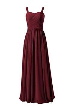 DaisyFormals Long Chiffon Bridesmaid Dress w/Straps(BM2386)- Dark Scarlet DaisyFormals http://www.amazon.com/dp/B00PNCGKNQ/ref=cm_sw_r_pi_dp_zAjOub03DN8Y5