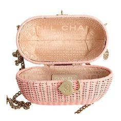 Chanel Wicker Shoulder Bag Pink (€860) ❤ liked on Polyvore featuring bags, handbags, shoulder bags, red purse, chanel, shoulder bag handbag, pink purse and pink shoulder handbags